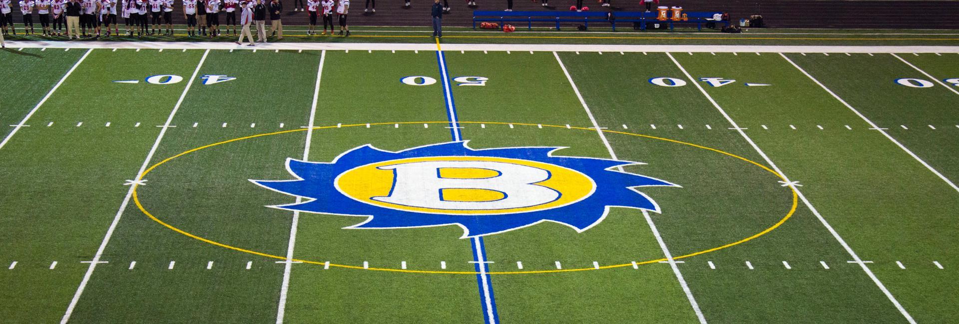 Brooklyn High School Front Brooklyn Stadium-50 yard line buzzsaw ...