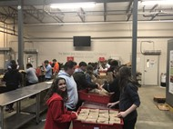 AVID 9 Students Pack Lunches at Greater Cleveland Foodbank