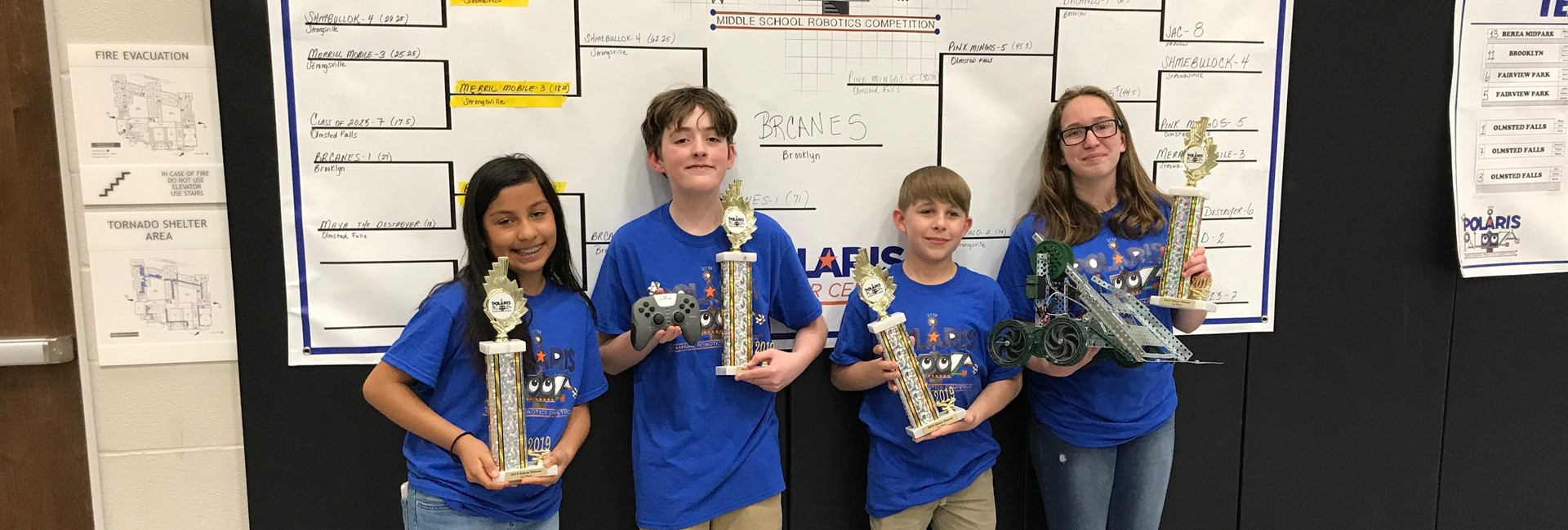 First Place Brooklyn Middle School Robotics Team Members