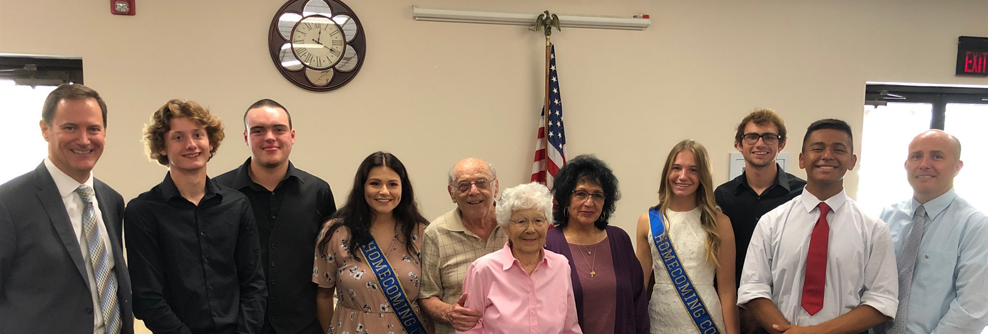 Members of 2020 Homecoming Court Visit Senior Center