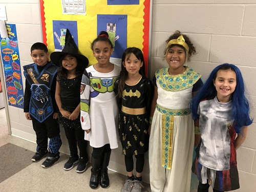Brooklyn School Students in Costume