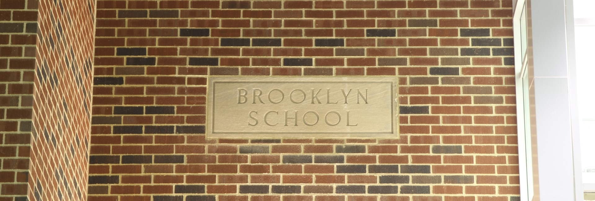 Brooklyn School Brick Sign